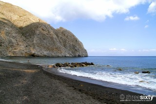 The best Santorini beaches Kima Villas the sandy Perissa Beach is ideal for families