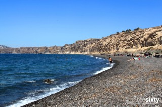 The best Santorini beaches Kima Villas Vlychada Beach has crystal-clear waters and pebbles