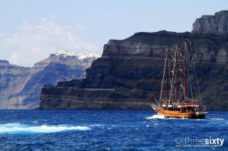 The magical Santorini island in Greece Kima Villas cruise trips near the Caldera