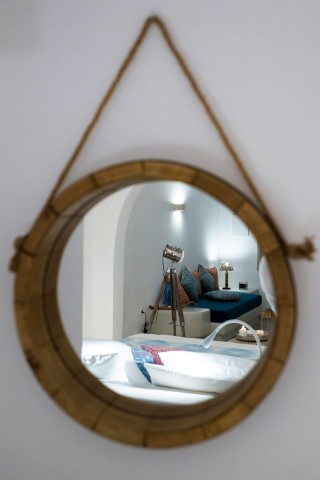 facilities of our santorini luxury hotel in oia kima villas bedroom minimal decoration