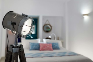 luxurious santorini suites kima villa artistic decoration with lamps