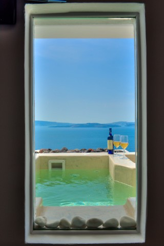 luxurious santorini superior suites kima villa sea view jacuzzi and welcome drinks